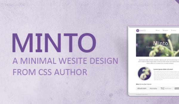 Minto - A Free Minimal Website Design Template PSD - cssauthor.com