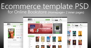 E-commerce Template PSD for Online Bookstore – Freebie No: 68