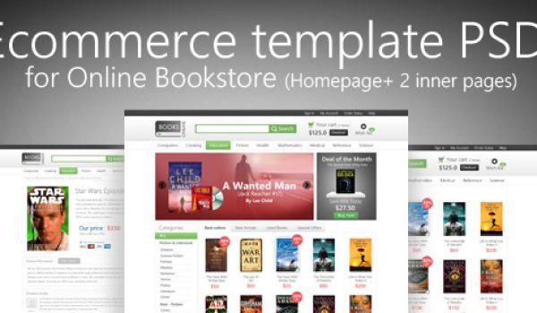 Online E-commerce Template PSD for Online Bookstore - cssauthor.com