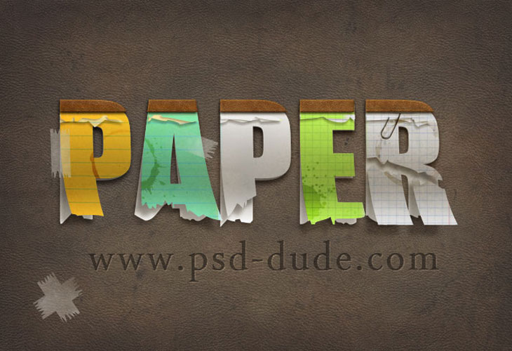 Paper-Text-in-Photoshop