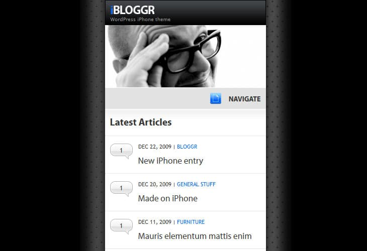 SOFA iBloggr - WordPress iPhone theme