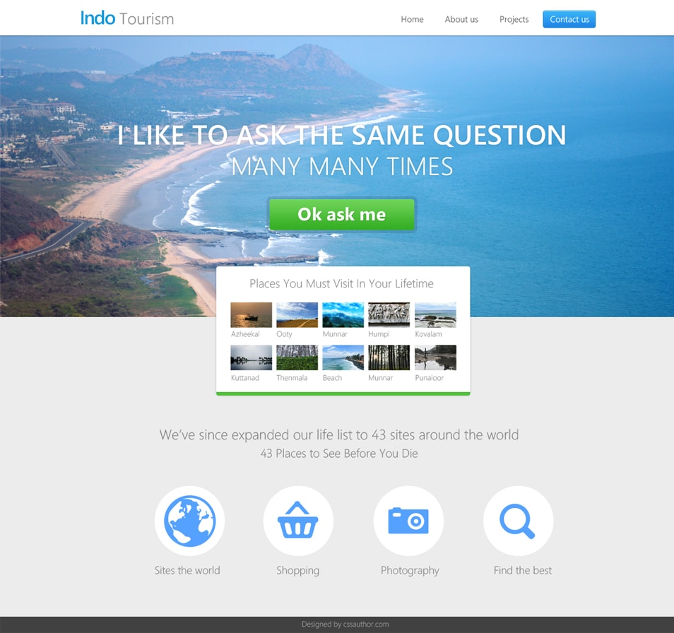 Travel and Hotel Website Template PSD