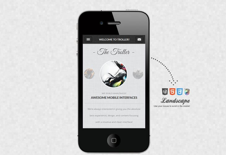 Troller Mobile Retina | WordPress Version
