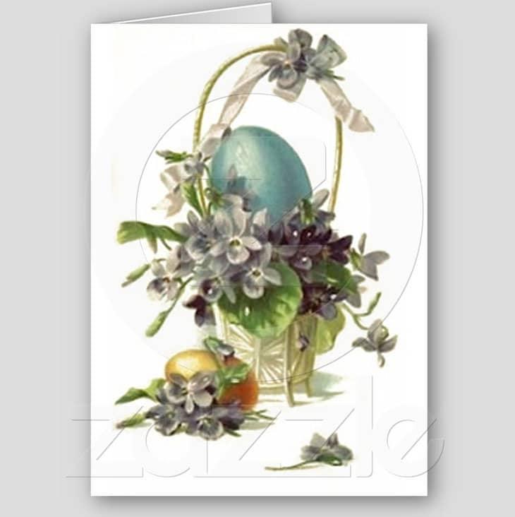 Vintage Easter Basket Cards