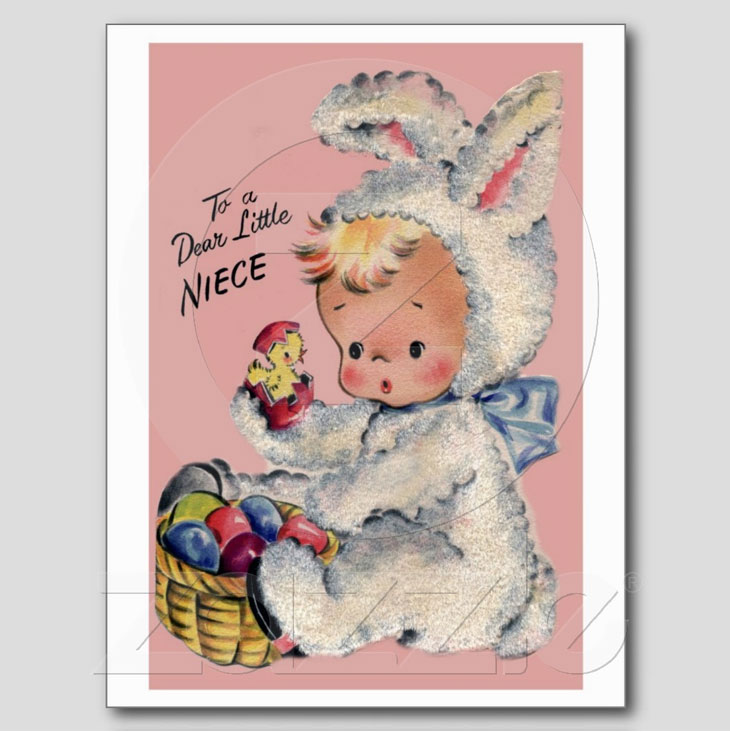 Vintage Easter Card Reproduction Postcard