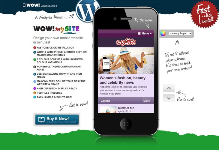 WOW! mySite WordPress Mobile Theme