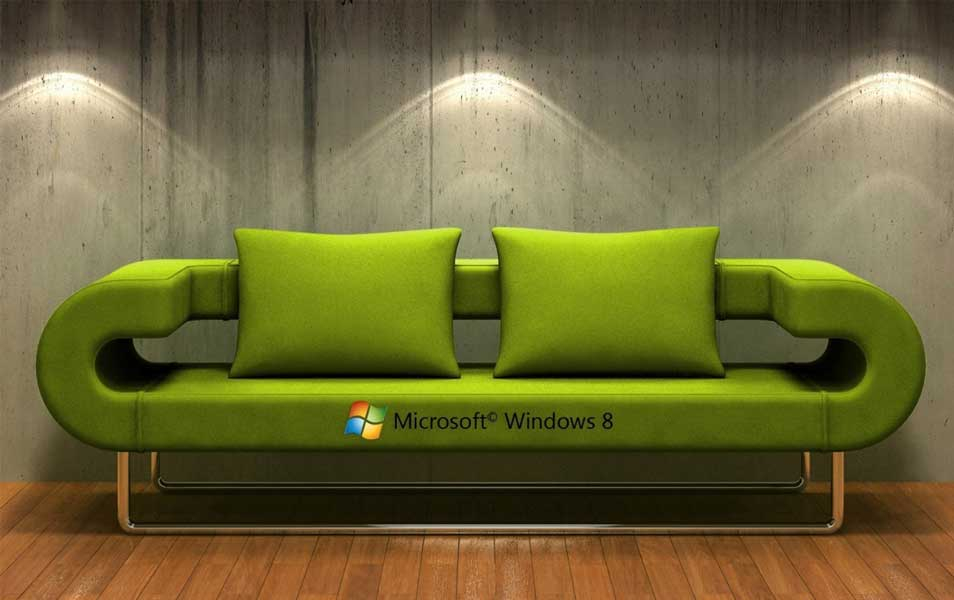 Windows 8 3D Couch wallpaper