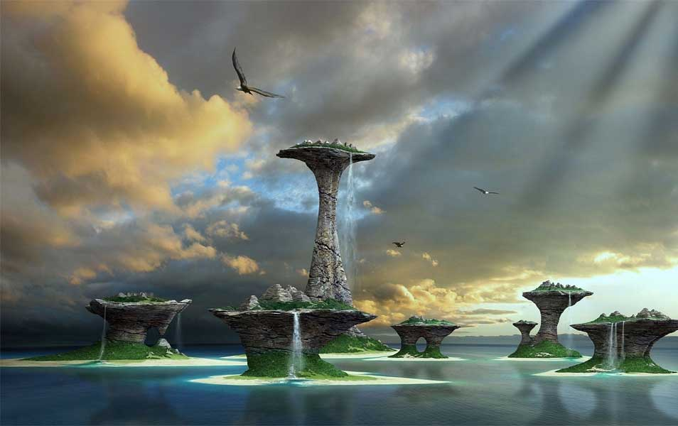 Windows 8 3D Fantasy Lake Wallpaper