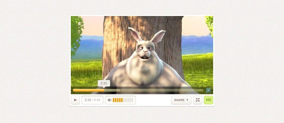 A Free Custom Video Player Design PSD