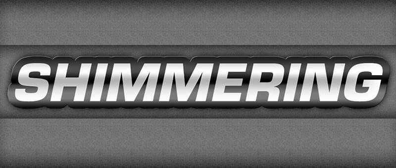 Animated Shimmering Metal Text Effect