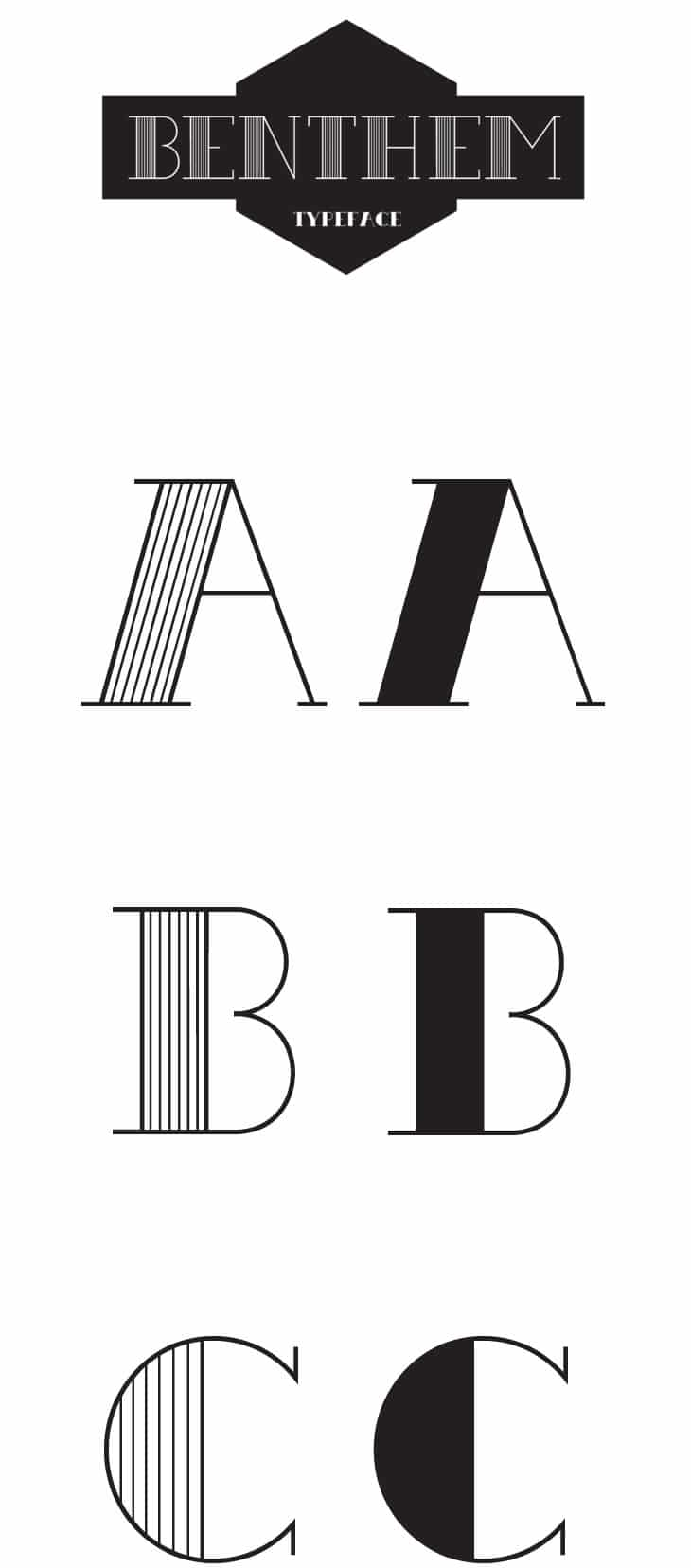 Benthem-Free-Typeface