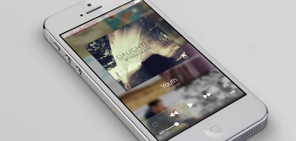 Clean Music Player PSD