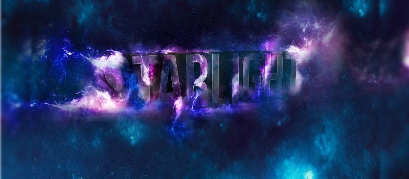 Create 3D Star Light Text Effect