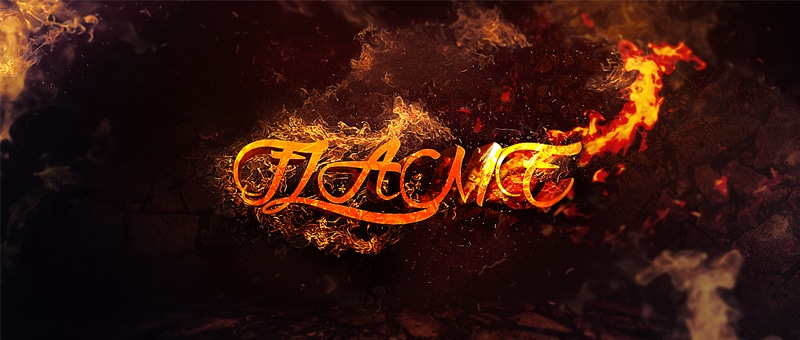 Create 3D Text Surrounded By Flame