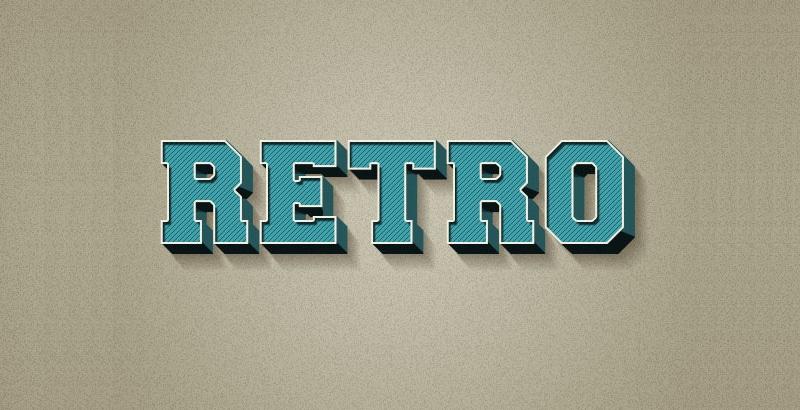 Create a 3D Retro Text Effect
