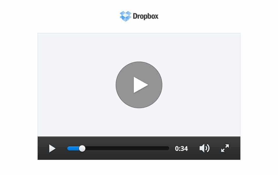 Dropbox Video Player