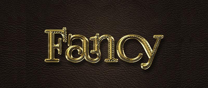 Fancy Gold Text Effect