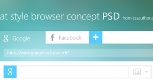 Flat Style Browser Concept PSD – Freebie No: 88
