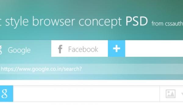 Flat Style Browser Concept PSD - cssauthor.com