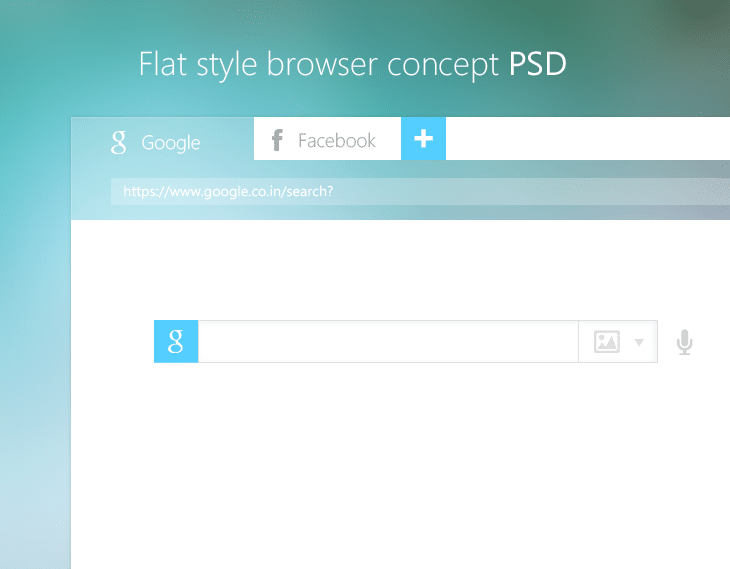 Flat Style Browser Concept PSD for Free Download - cssauthor.com