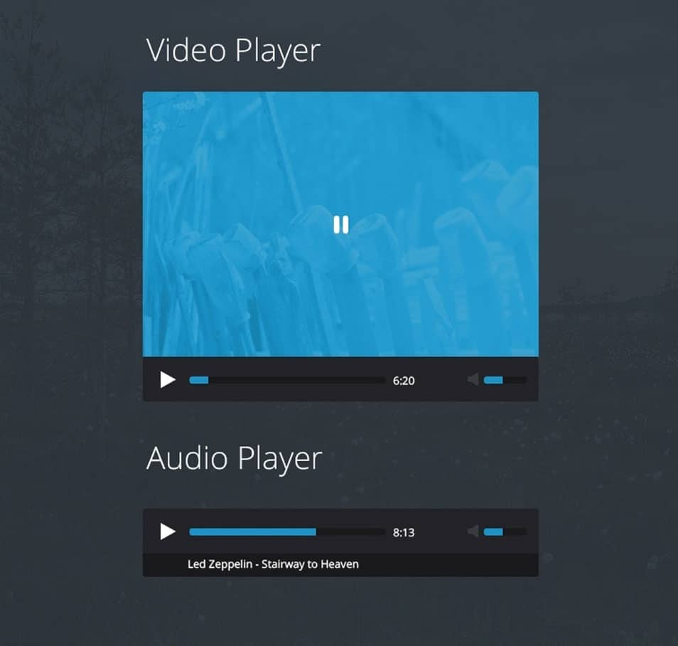 Flat Video / Audio Player PSD