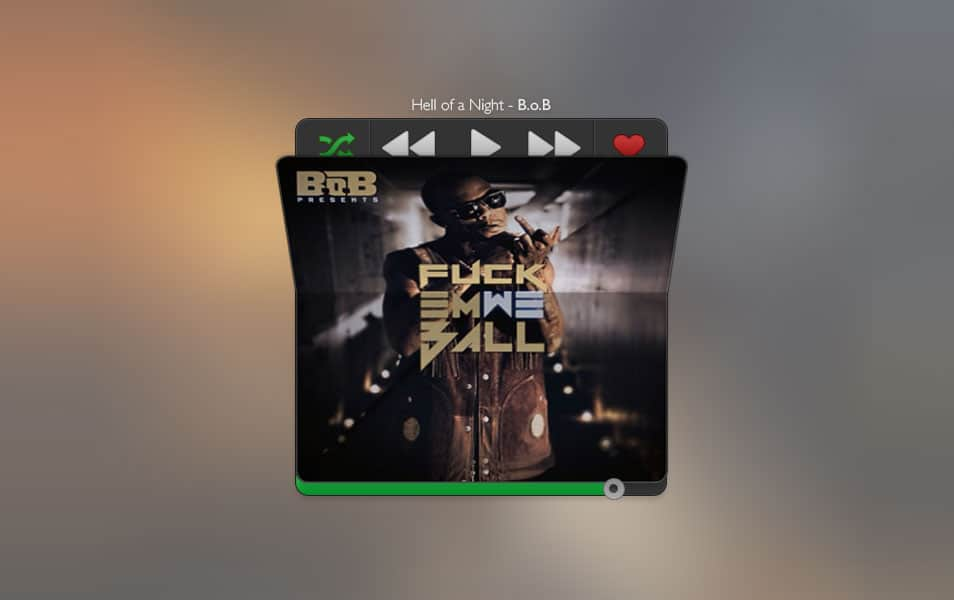 Fold Music Player PSD
