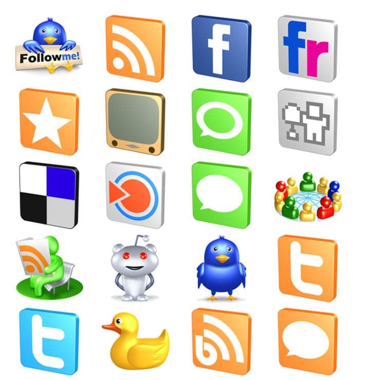 Free-3D-Social-Icons