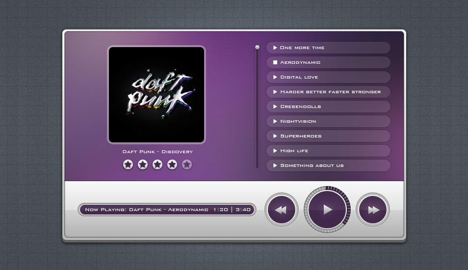 Freebie 05: Music Player