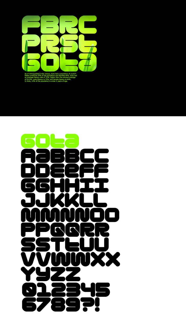 Shirt design fonts - Gota Free Font