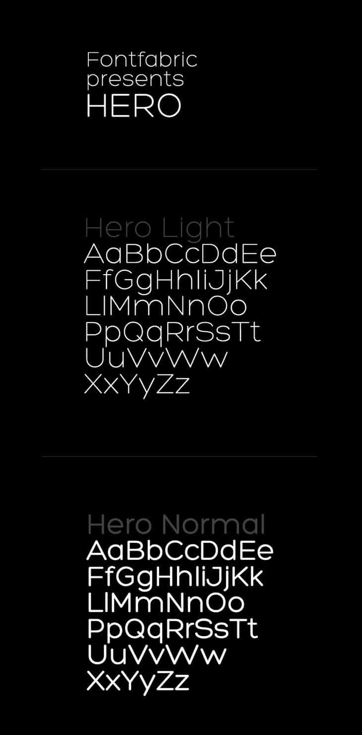 Hero-Free-Font