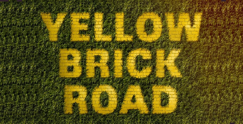 How to Create a Yellow Brick Road Inspired Text Effect