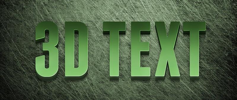 How to Create an Editable 3D Text Effect