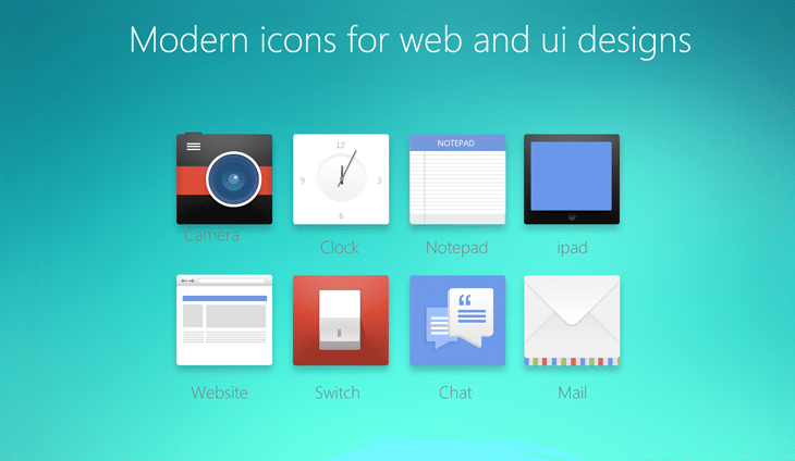 Modern Icons For Web And UI Designs - cssauthor.com