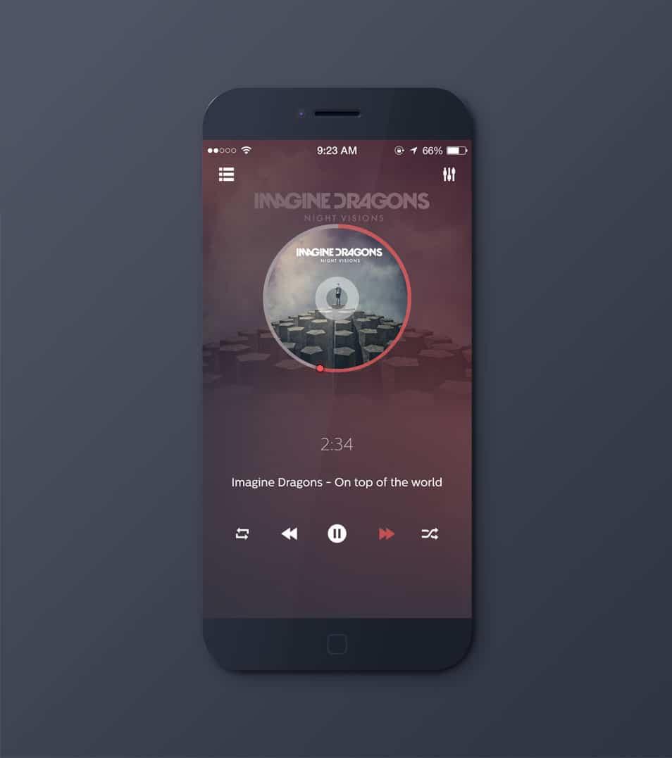 Music Player PSD
