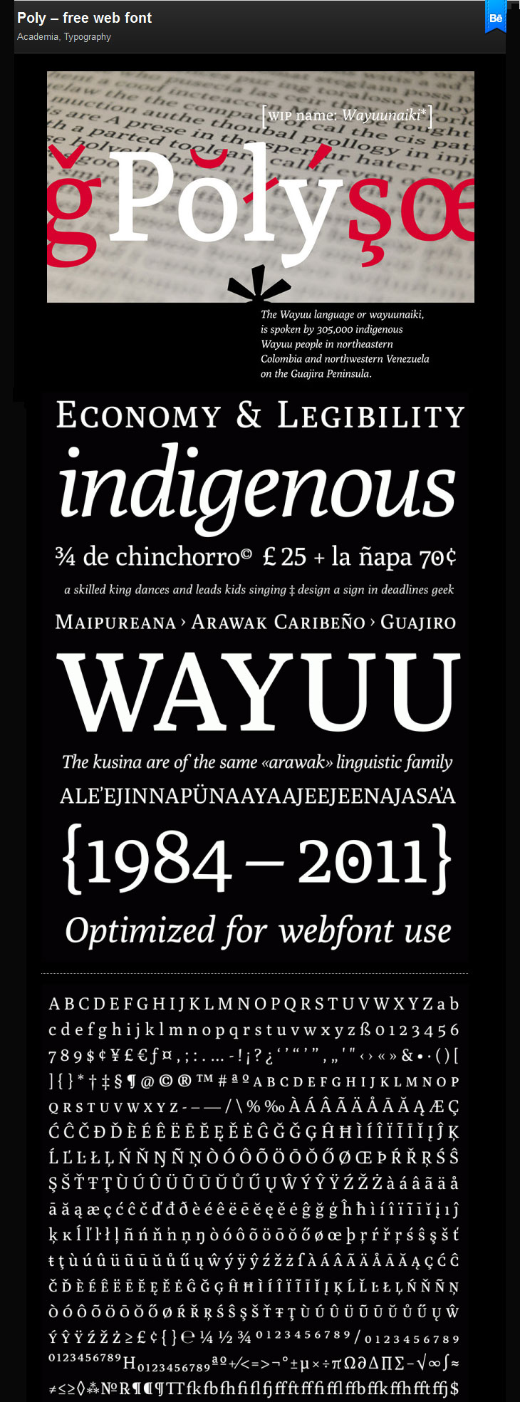 Poly-free-web-font