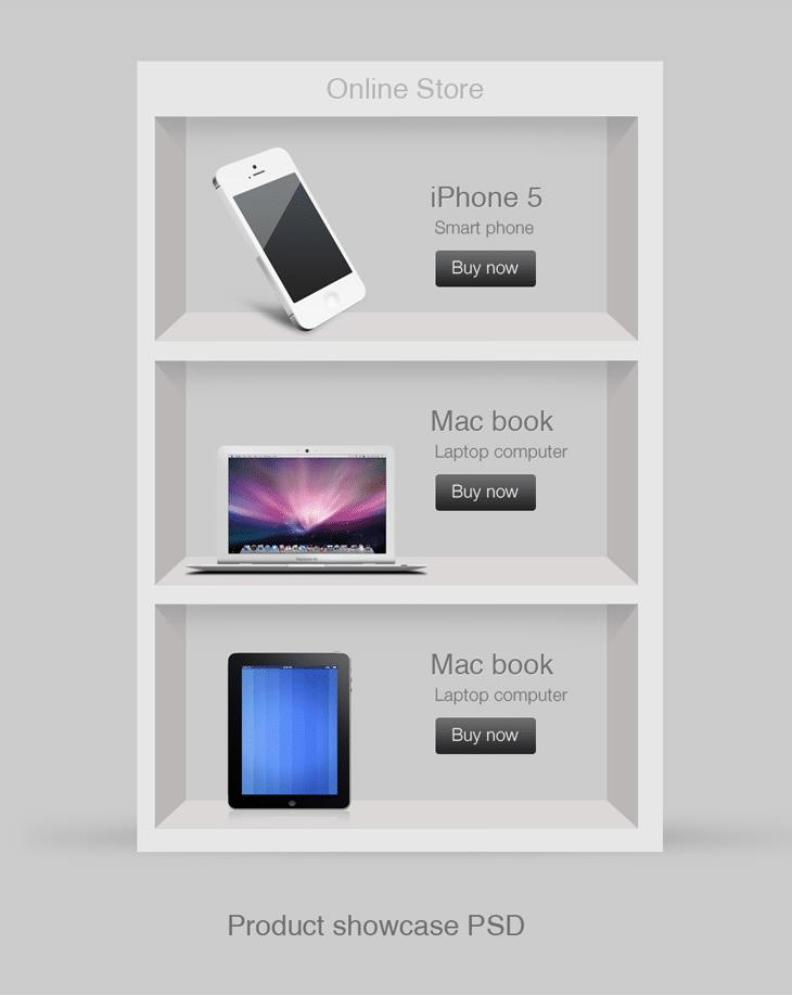 Product Showcase PSD for Free Download - cssauthor.com