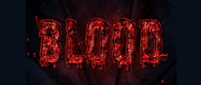 Quick Bloody Text Effect
