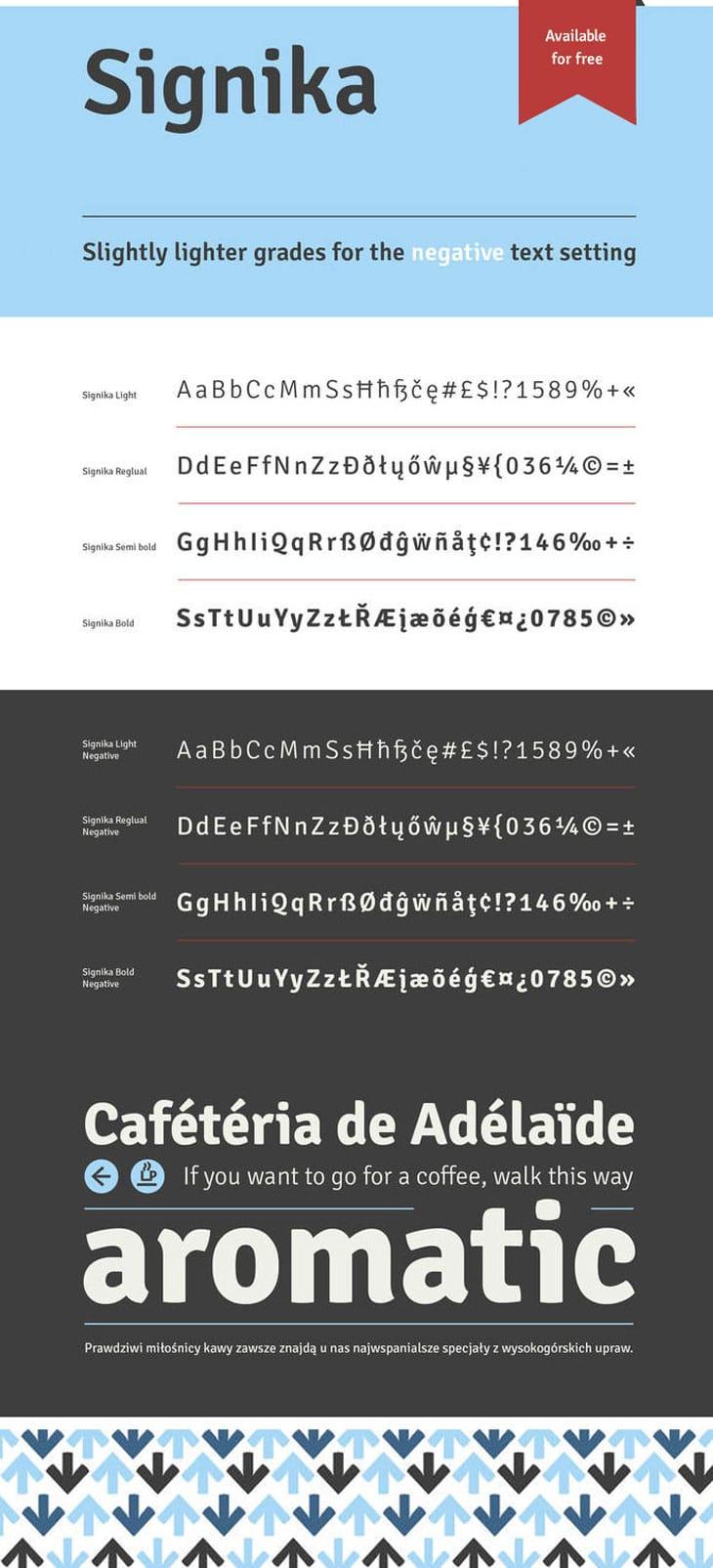 Signika-font