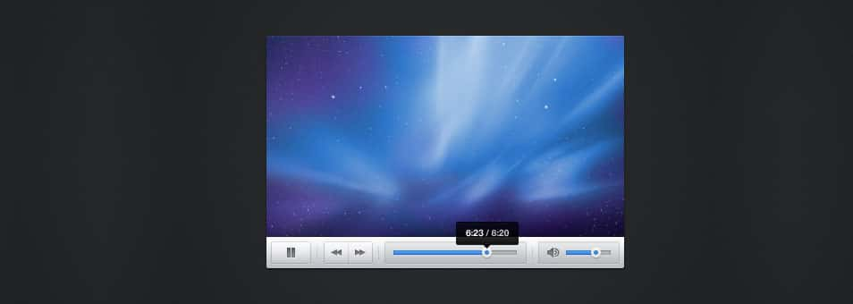 Snappy Light Video Player Skin