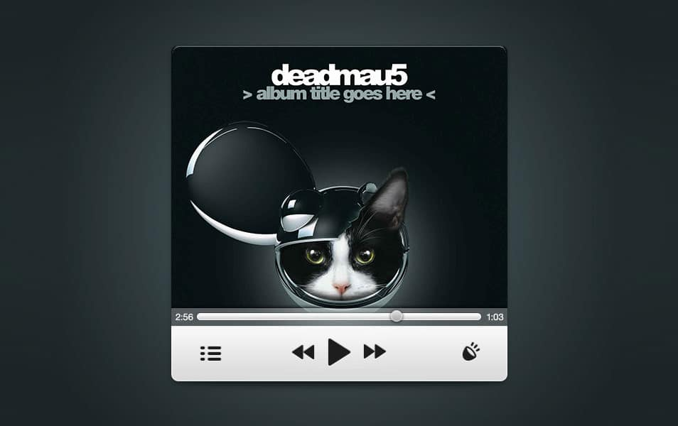 Speed Music Player PSD