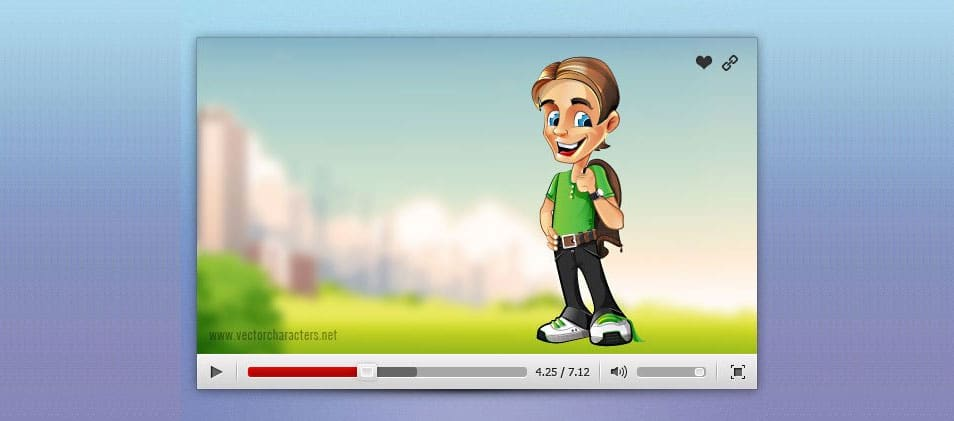 Video Player PSD Set