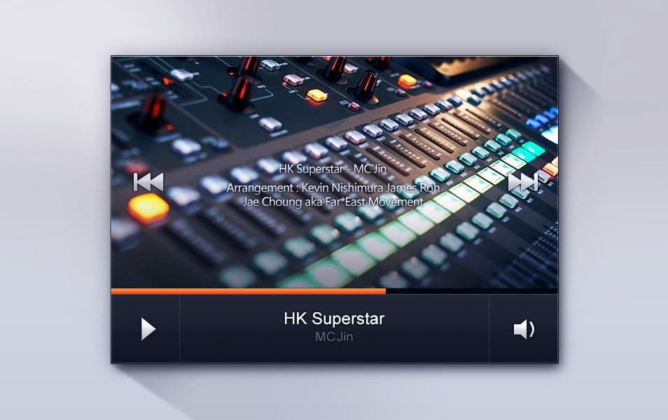 Video Player UI PSD