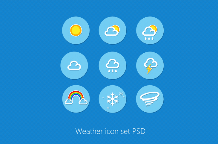 Weather Icon Set PSD for Free Download - cssauthor.com