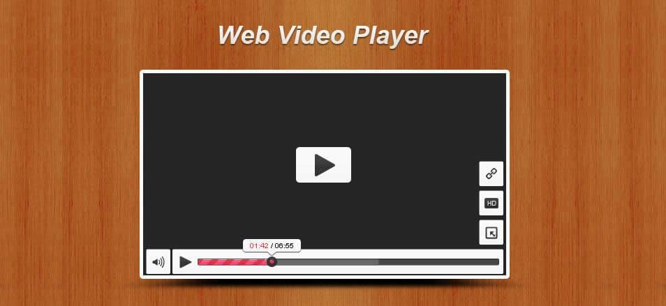 Web Video Player PSD