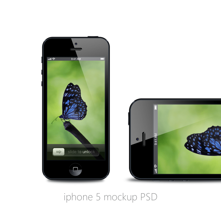 iPhone 5 Mockup PSD for Free Download - cssauthor.com