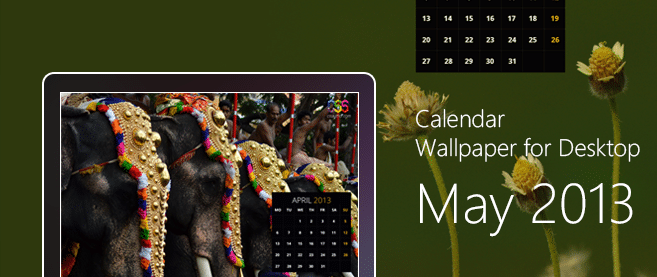 Calendar Wallpaper for Desktop May 2013 - cssauthor.com