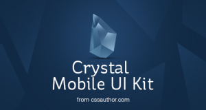 Crystal – Mobile Application UI Design PSD – Freebie No: 97