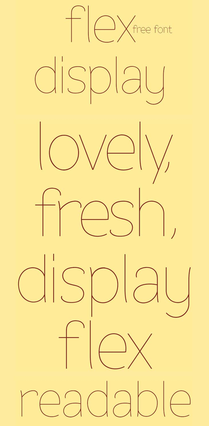 Flex-Display-Free-Font