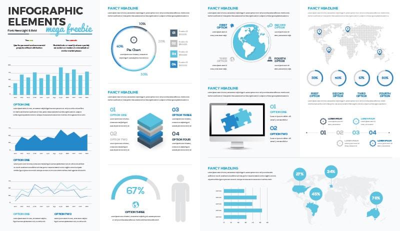 Infographic Vectors Mega Collection