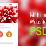 Multipurpose Website Template PSD